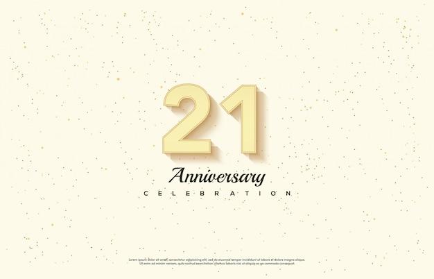 Празднование годовщины со светящимся золотым номером.