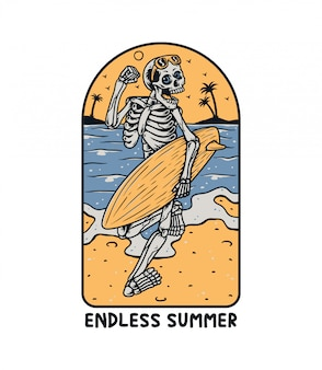 Скелет серфер премиум