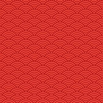 赤い東洋中国シームレスパターン。図
