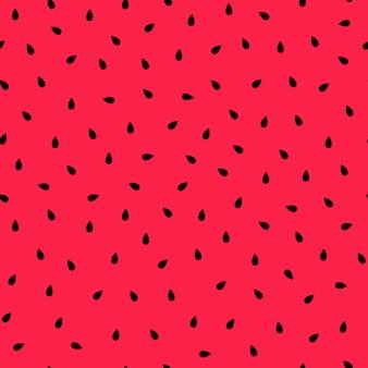 Арбуз. бесшовный фон с черными семенами