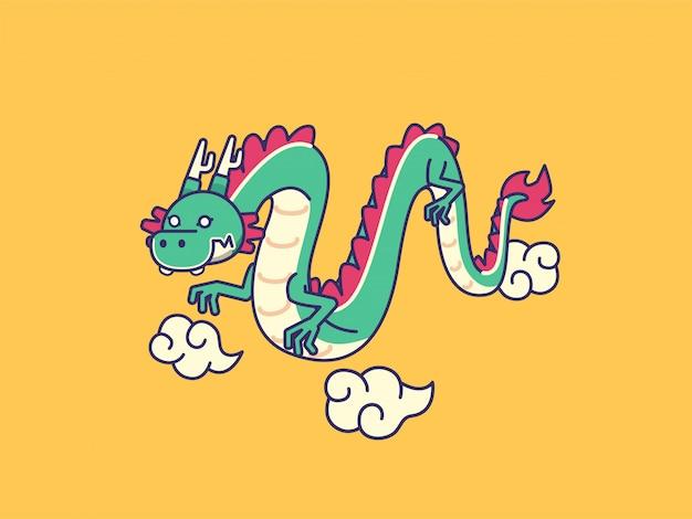 Мультфильм иллюстрация дракона