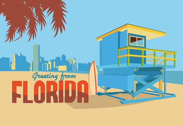 フロリダの葉書からの挨拶