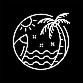 夏にサーフィン