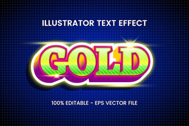 «золотой» редактируемый эффект стиля текста