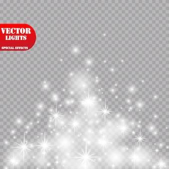 Свечение световой эффект. иллюстрации. рождественская флэш-концепция.
