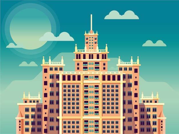 空の古い建物ロシア