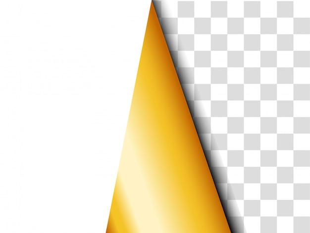 Фон ленты золотой бумаги.
