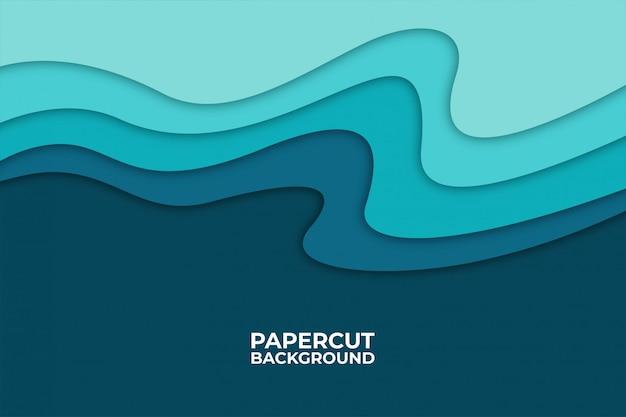 紙で抽象的な波背景カットシェイプ、
