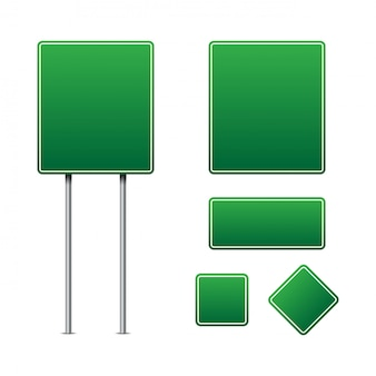 緑の交通標識ベクトル