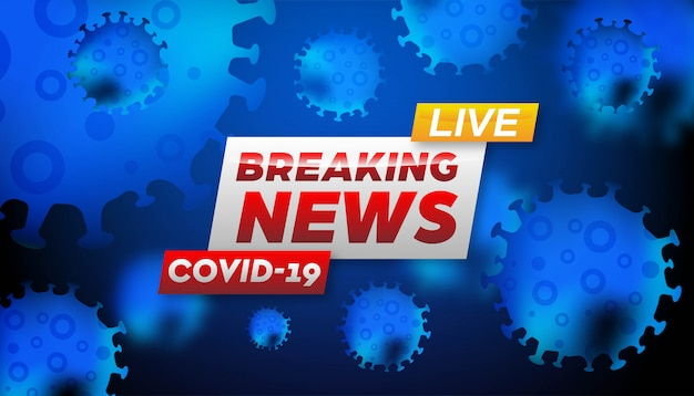 速報ニュースコロナウイルスの背景テンプレート。