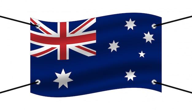 オーストラリアの背景テンプレートの旗。