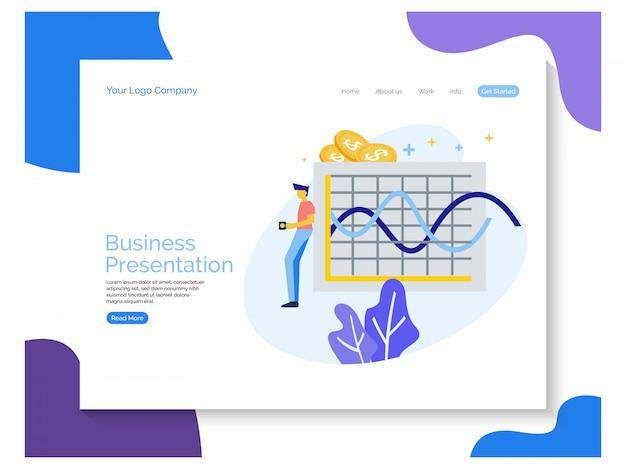 ビジネスプレゼンテーションのランディングページ