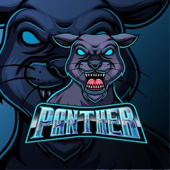 Пантера талисман спорт и спорт дизайн логотипа