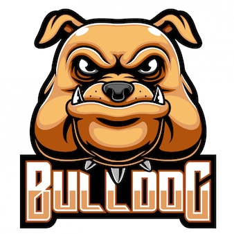 Логотип талисмана головы бульдога