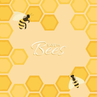 Сохранить дизайн пчел