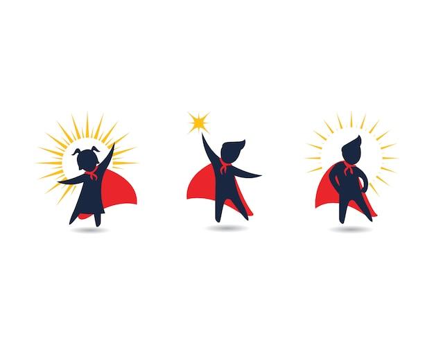 Дети супер концепция дизайна иконок