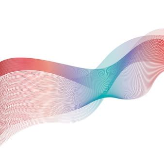 抽象的な滑らかな色の波