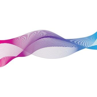 Абстрактная гладкая цветная волна
