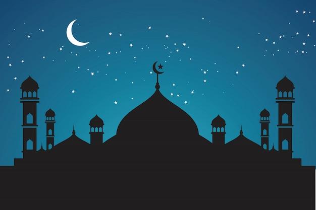 イスラム教の背景イラスト