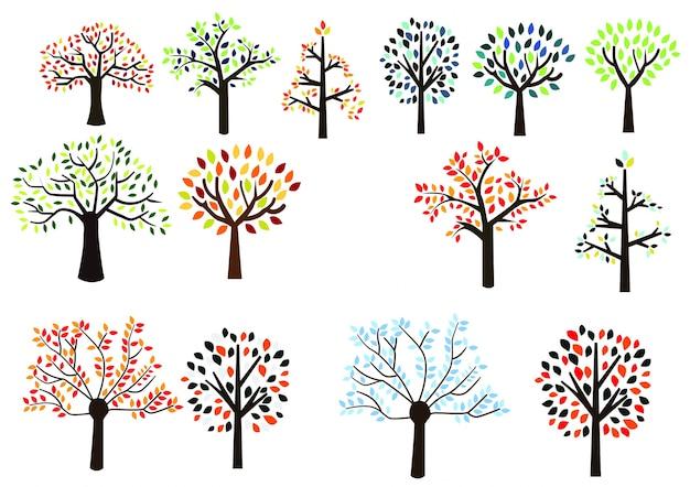 カラフルな木