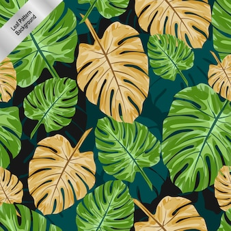 葉のパターンの背景