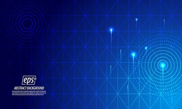 青い技術光の抽象的な背景