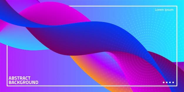Абстрактная волна синий фон