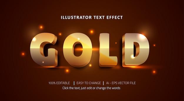 Редактируемый текстовый эффект класса люкс золотой титул премиум