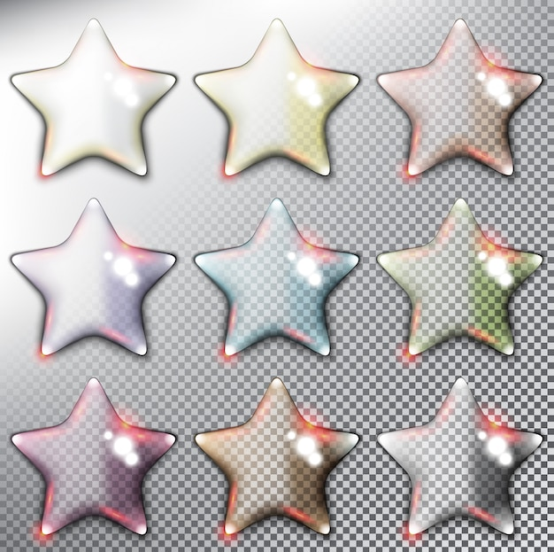 光沢のある星の図