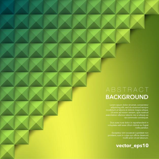 Абстрактный фон зеленый геометрический фон.