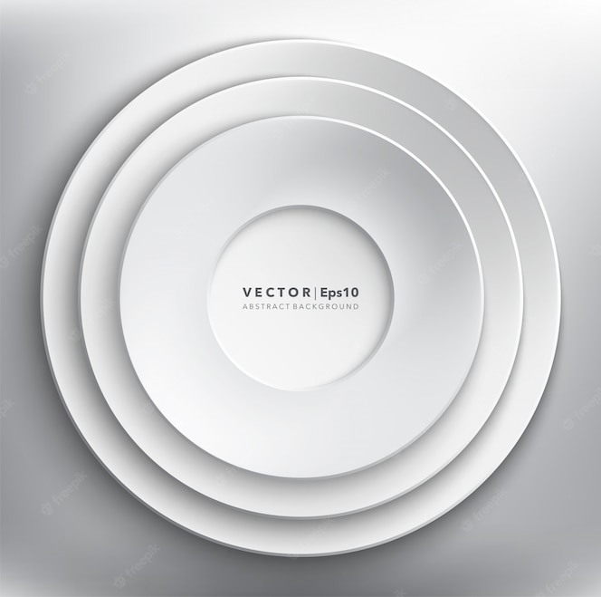ホワイトペーパーサークルの背景。丸い紙フレーム。