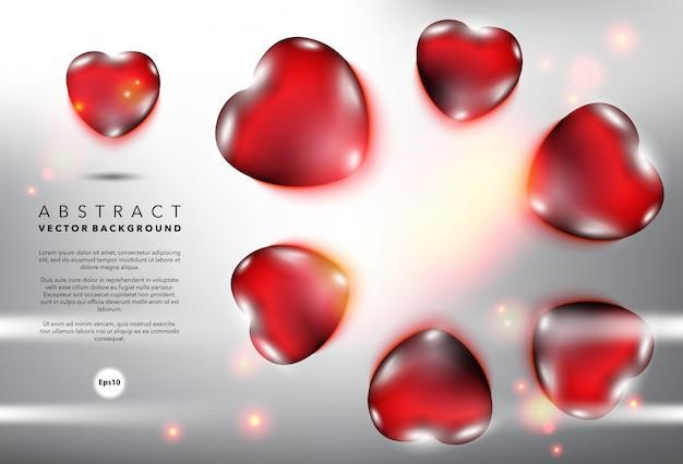 幸せなバレンタインカード。抽象的なベクトルの表面。
