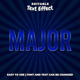 Стиль основных редактируемых синих текстовых эффектов
