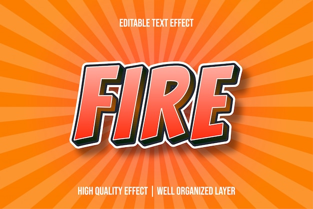 火の赤のスタイルのテキスト効果