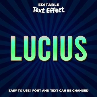 Стиль люциуса грина с текстовым эффектом
