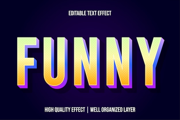Забавный редактируемый желтый текстовый эффект