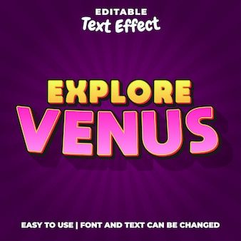 金星ゲームのロゴの編集可能なテキスト効果スタイルを探索する