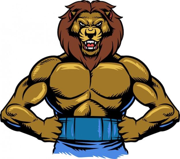 ライオンの筋肉