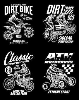 Коллекция футболок с рисунком для мотокросса