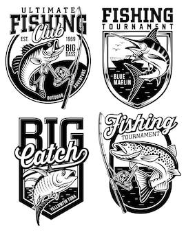 Набор рыболовных эмблем