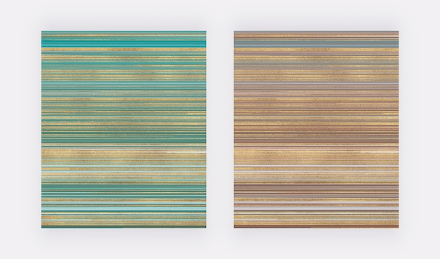 緑と茶色の黄金の抽象的なキラキラ液体水彩テクスチャ