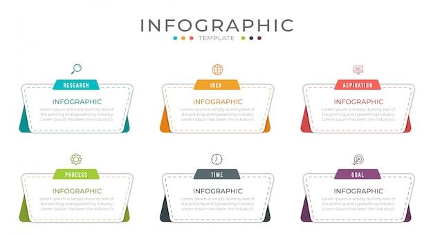ビジネスインフォグラフィックデザインは、ワークフローのレイアウト、図、年次報告書に使用できます。