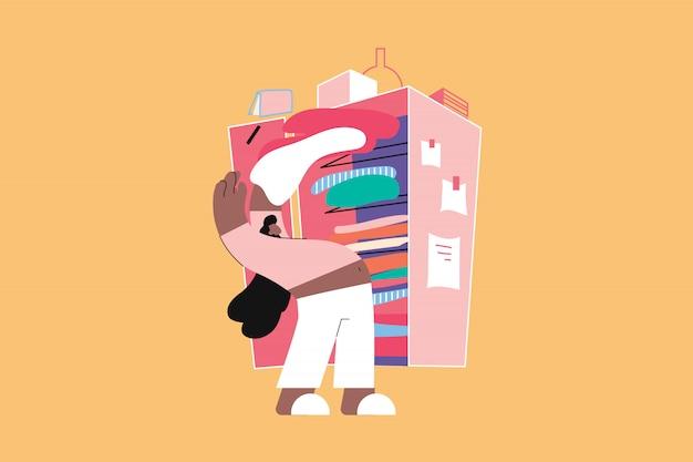 Уборка, хобби, отдых, работа, концепция подготовки