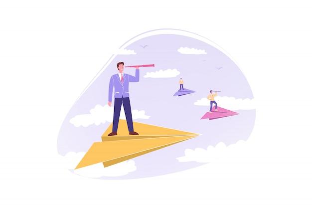 Бизнес-команда, руководство, цель, мотивация, бизнес-концепция.