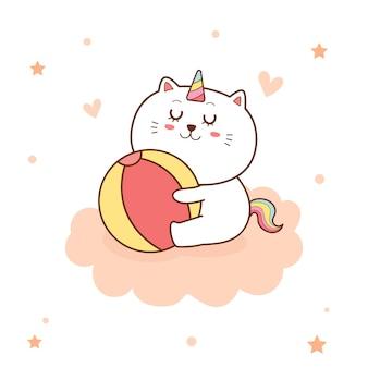 かわいい猫ユニコーン