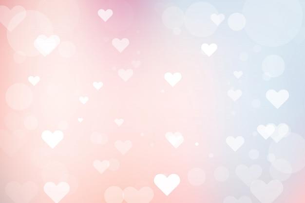 Абстрактный фон боке с сердцем на день святого валентина