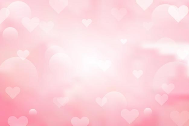 Абстрактный розовый фон с сердечками