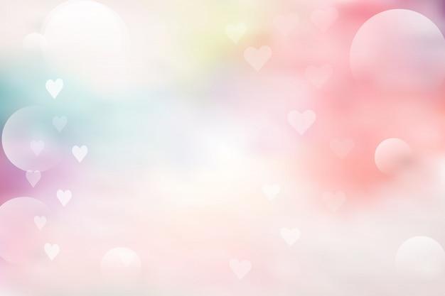 Розовый и синий абстрактный фон с боке на день святого валентина