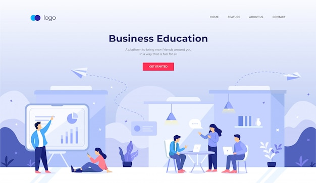 ウェブサイトのデザインのビジネス教育イラスト