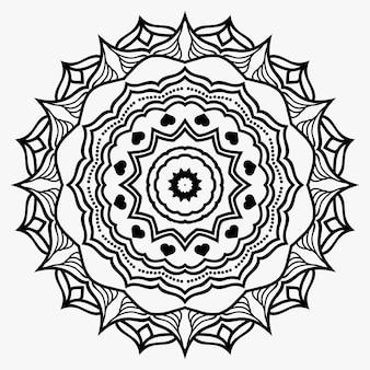創造的な装飾の豪華なマンダラ